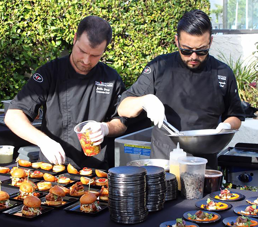 Chefs serving their latest creations at The Flavor Experience